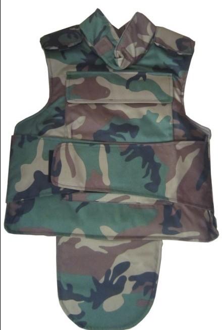 迷彩全防护防弹衣